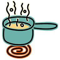 food - cooking - pot steaming
