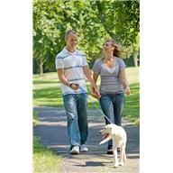 exercise - walk - man n woman with dog