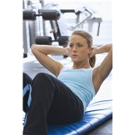 exercise - woman doing sit ups