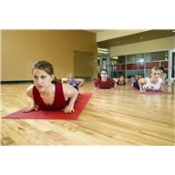 exercise - woman on mat yoga