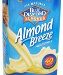 food - blue diamond almond milk box