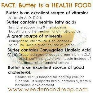 food - butter is a health food graphic